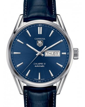 Tag Heuer Carrera Stainless Steel Blue Index Dial & Leather Strap  WAR201E.FC6292 - BRAND NEW