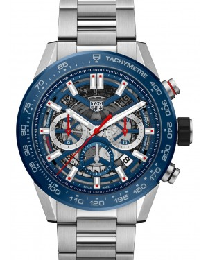 Tag Heuer Carrera Stainless Steel Blue Index Dial & Stainless Steel Bracelet CBG2A11.BA0654 - BRAND NEW