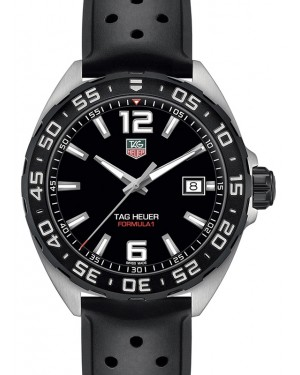 Tag Heuer Formula 1 Stainless Steel Black Index Dial & Rubber Strap WAZ1110.FT8023 - BRAND NEW