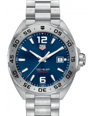 Tag Heuer Formula 1 Stainless Steel Blue Index Dial & Stainless Steel Bracelet WAZ1118.BA0875 - BRAND NEW