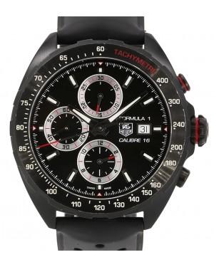 TAG Heuer Formula 1 Steel Black PVD Black Dial & Bezel Rubber Strap 44mm CAZ2011.FT8024  - PRE-OWNED