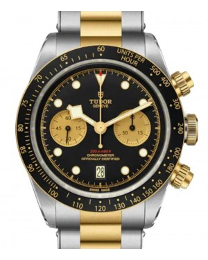 Tudor Black Bay Chrono S&G Stainless Steel 41mm Black Dial Steel and Gold Bracelet 79363N-0001 - Brand New