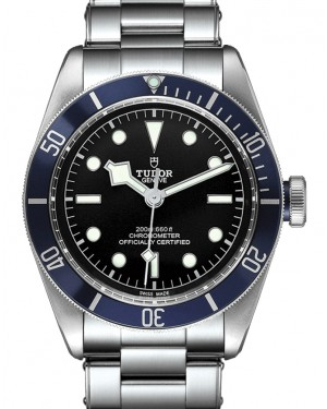 Tudor Black Bay P01 Black Dial Blue Bezel Stainless Steel  Bracelet 41mm 79230 - BRAND NEW