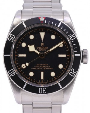 Tudor Heritage Black Bay Stainless Steel Black Dial & Bezel Riveted Steel Bracelet 79230N - PRE-OWNED