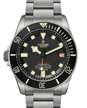 Tudor Pelagos LHD Left-Handed Black Dial & Bezel Titanium Bracelet 42mm 25610T - BRAND NEW