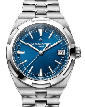 Vacheron Constantin Overseas Self-Winding Stainless Steel 41mm Blue Index Dial & Stainless Steel Bracelet 4500V/110A-B128 - PRE OWNED