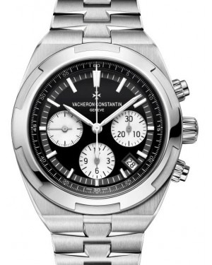 Vacheron Constantin Overseas Chronograph Stainless Steel Black Index Dial & Steel Bracelet 5500V/110A-B481 - BRAND NEW