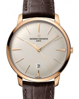 Vacheron Constantin Patrimony Rose Gold Silver Index Dial & Leather Strap 85180/000R-9248 - BRAND NEW