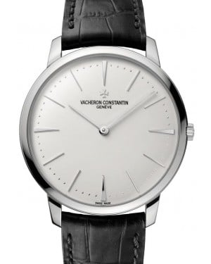 Vacheron Constantin Patrimony White Gold Silver Index Dial & Leather Strap 81180/000G-9117 - BRAND NEW