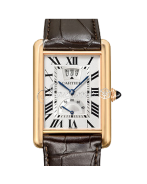 CARTIER W1560003 TANK LOUIS PINK GOLD LEATHER BRAND NEW