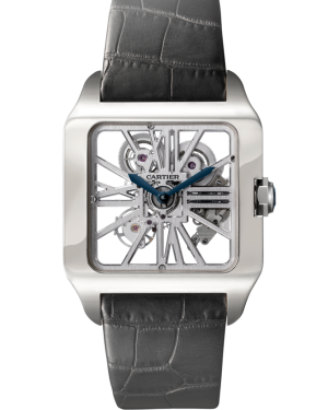 CARTIER W2020033 SANTOS DUMONT WHITE GOLD BRAND NEW
