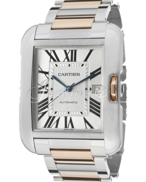 CARTIER W5310006 TANK ANGLAISE 18K PINK GOLD STEEL BRAND NEW