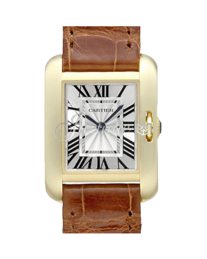CARTIER W5310028 TANK ANGLAISE YELLOW GOLD, LEATHER BRAND NEW
