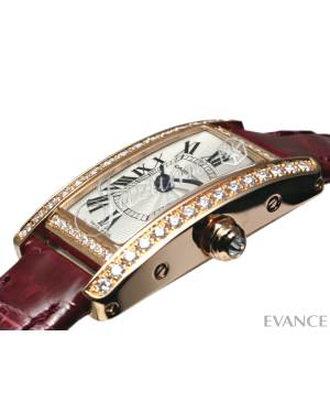 CARTIER WB710014 TANK AMERICAINE 18K PINK GOLD, DIAMONDS BRAND NEW