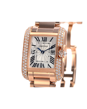 CARTIER WT100002 TANK ANGLAISE 18K PINK GOLD, DIAMONDS BRAND NEW