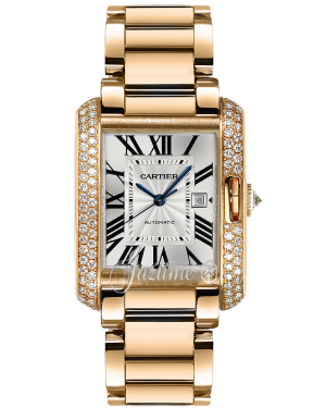 CARTIER WT100003 TANK ANGLAISE 18K PINK GOLD, DIAMONDS - BRAND NEW
