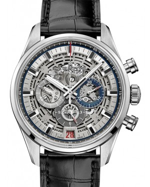 Zenith Chronomaster El Primero Full Open Stainless Steel Silver Index Dial & Leather Strap 03.2081.400/78.C813 - BRAND NEW
