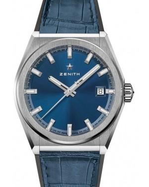 Zenith Defy Classic Titanium Blue Dial & Leather Strap 95.9000.670/51.R584 - BRAND NEW