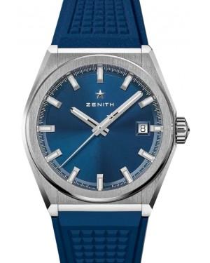 Zenith Defy Classic Titanium Blue Dial & Rubber Strap 95.9000.670/51.R790 - BRAND NEW