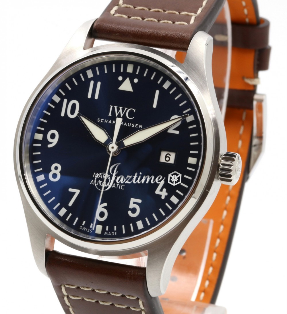 more photos 8f9a8 7f290 IWC Schaffhausen IW327004 Pilot's Watch Mark Xviii Edition Le Petit Prince  Midnight Blue Arabic Stainless Steel Brown Leather 40mm Automatic
