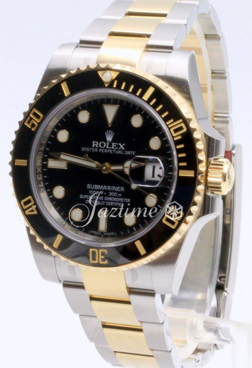 260e4c7f1c8fc Rolex Submariner 116613 116613LN Ceramic Black Date 18k Yellow Gold ...