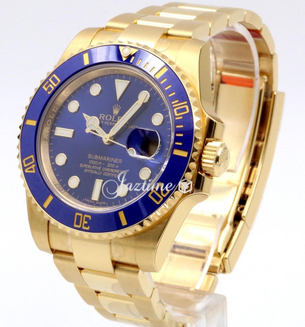 brand new 54744 85b84 Rolex Submariner Date Yellow Gold Blue Dial & Ceramic Bezel Oyster Bracelet  116618LB - BRAND NEW