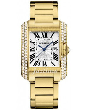 CARTIER WT100006 TANK ANGLAISE 18K YELLOW GOLD, DIAMONDS - BRAND NEW