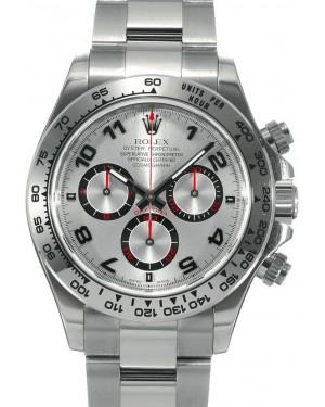 Rolex Daytona 18kt White Gold Silver Arabic Dial & Oyster Bracelet 116509 - PRE-OWNED