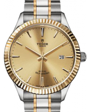Tudor Style 12713 Champagne Index Fluted Yellow Gold & Stainless Steel 41mm BRAND NEW