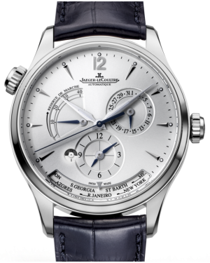 Jaeger-LeCoultre Calibre 939A/1 Master Geographic 1428421 Silver Index Stainless Steel Leather 39mm Automatic BRAND NEW