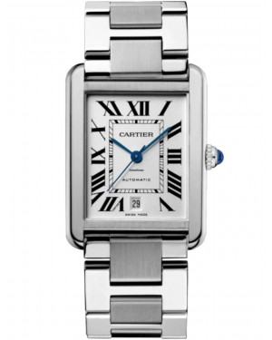Cartier Tank Solo Stainless Steel Silver Extra Large 40.85mm Dial Bracelet Automatic W5200028 - BRAND NEW