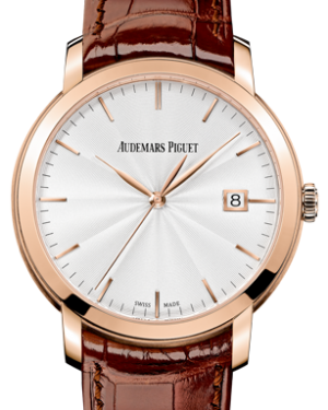 Audemars Piguet 15170OR.OO.A809CR.01 Jules Audemars Selfwinding 39mm Silver Guilloche Index Rose Gold BRAND NEW