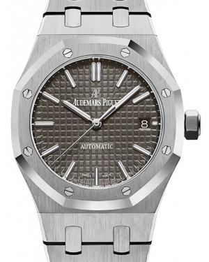 Audemars Piguet Royal Oak Selfwinding 15450ST.OO.1256ST.02 Gray Index Stainless Steel 37mm Automatic - BRAND NEW