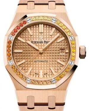 Audemars Piguet Royal Oak Selfwinding 15451OR.YY.1256OR.01 Pink Index Pink Gold 37mm - BRAND NEW