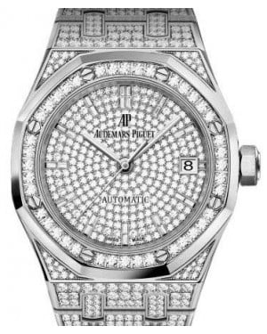 Audemars Piguet Royal Oak Selfwinding 15452BC.ZZ.1258BC.01 Diamond Paved Diamond Set White Gold 37mm - BRAND NEW