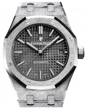 Audemars Piguet Royal Oak Frosted Gold Selfwinding 15454BC.GG.1259BC.03 Black Index White Gold 37mm - BRAND NEW