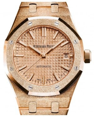 Audemars Piguet Royal Oak Frosted Gold Selfwinding 15454OR.GG.1259OR.03 Pink Index Pink Gold 37mm - BRAND NEW