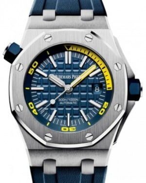 Audemars Piguet Royal Oak Offshore Diver Stainless Steel 42mm Blue Dial Rubber Strap 15710ST.OO.A027CA.01 - BRAND NEW