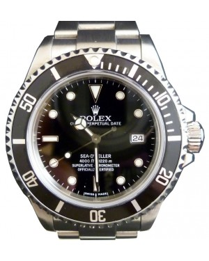 Rolex Sea-Dweller 16600 Stainless Black Seadweller Date 40mm Mens