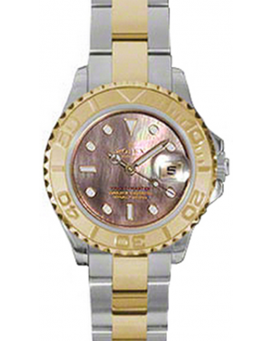 Rolex Yacht-Master 29 169623-BMOP Dark Mother of Pearl White Dial Yellow Gold Bezel Yellow Gold Stainless Steel Oyster - BRAND NEW