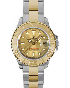 Rolex Yacht-Master 29 169623-GLD Champagne White Dial Yellow Gold Bezel Yellow Gold Stainless Steel Oyster - BRAND NEW