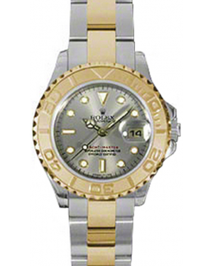 Rolex Yacht-Master 29 169623-GRY Grey White Dial Yellow Gold Bezel Yellow Gold Stainless Steel Oyster - BRAND NEW