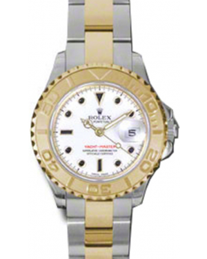 Rolex Yacht-Master 29 169623 White Black Dial Yellow Gold Bezel Yellow Gold Stainless Steel Oyster - BRAND NEW