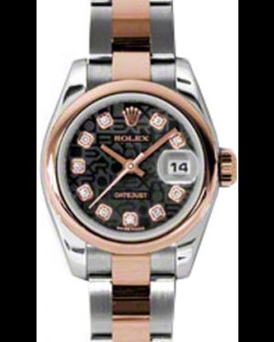 Rolex Lady-Datejust 26 179161-BLKJDO Black Jubilee Diamond Rose Gold Stainless Steel Oyster - BRAND NEW