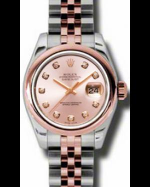 Rolex Lady-Datejust 26 179161-PNKDDJ Pink Diamond Rose Gold Stainless Steel Jubilee - BRAND NEW