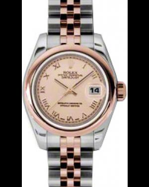 Rolex Lady-Datejust 26 179161-PNKRJ Pink Roman Rose Gold Stainless Steel Jubilee - BRAND NEW