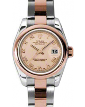 Rolex Lady-Datejust 26 179161-PNKRO Pink Roman Rose Gold Stainless Steel Oyster - BRAND NEW