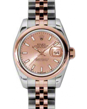 Rolex Lady-Datejust 26 179161-PNKSJ Pink Index Rose Gold Stainless Steel Jubilee - BRAND NEW