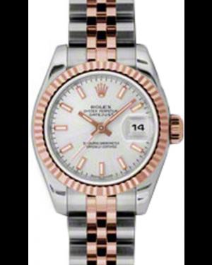 Rolex Datejust 36 116231-SLVSFJ Silver Index Fluted Rose
