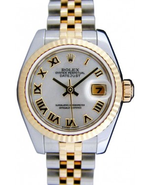 Rolex Datejust 179173 26mm Silver Roman 18k Yellow Gold Jubilee BRAND NEW